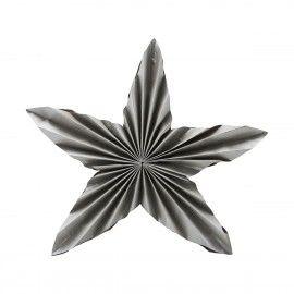 Estrella de Navidad en papel gris