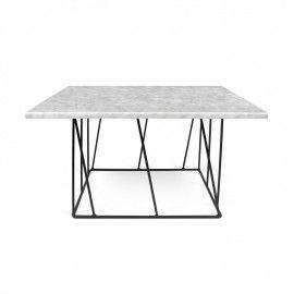 Mesa de centro en mármol blanco. Disponible en otros colores y tamaños.