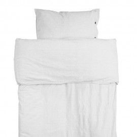 Funda de edredón + almohada blanco.