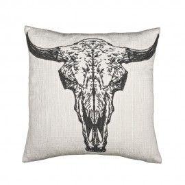 Cojín blanco búfalo.