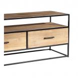 Mueble TV 3 cajones madera y hierro