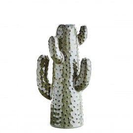 Jarrón cactus de cerámica.