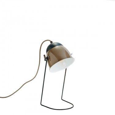 Lámpara de mesa gris topo.