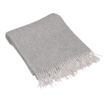 Manta de lana gris.