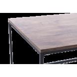 Mesa centro hierro y madera. Varios tamaños.