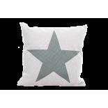 Cojín estrella mint.