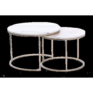 Mesa nido de mármol blanco.