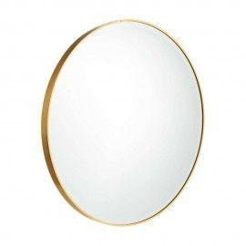 Espejo redondo marco dorado. Ø60cm.