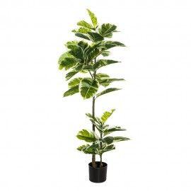 Planta de roble verde artificial.