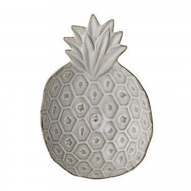 Bandeja de cerámica en forma de piña.