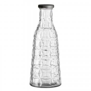 Botella de cristal geométrica