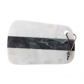 Tabla de mármol en blanco y negro.