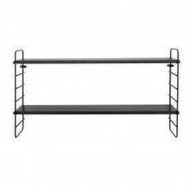 Estantería de metal negro. 65x35x15 cm.