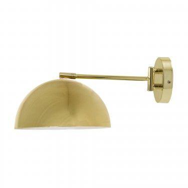 Lámpara de pared dorada.