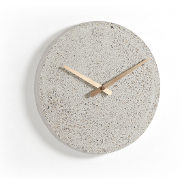 ACCORD Reloj pared terrazo beige