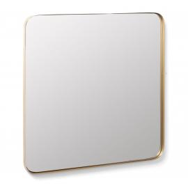 MARCUS Espejo 60x60 metal dorado