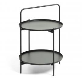ULLA Mesa auxiliar metal negro. 48x48x64 cm.