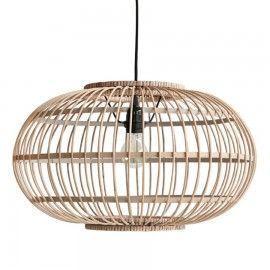 Lámpara de techo de bambú.