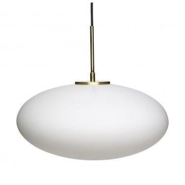 Lámpara de techo vidrio blanco.