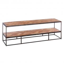Mueble TV de madera en zig-zag.160 x 40 x 50 cm