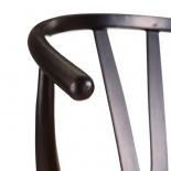 Silla negro-natural madera de abedul.