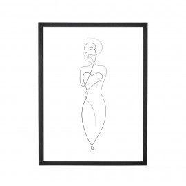 Lámina mujer marco negro.