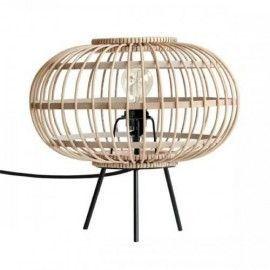 Lámpara de mesa bamboo.