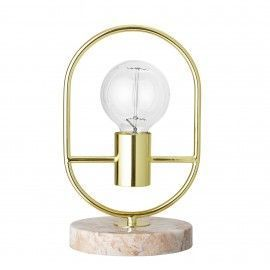 Lámpara de mesa metal y mármol.