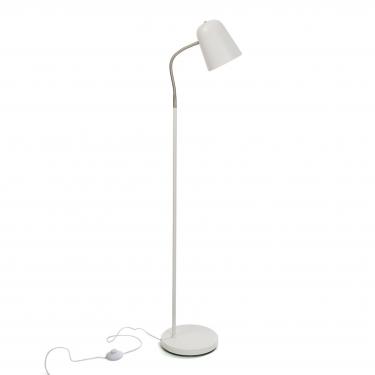 Lámpara de suelo blanca 142cm.