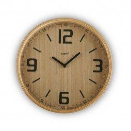 Reloj de pared de madera.