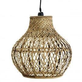 Lámpara techo de bamboo.