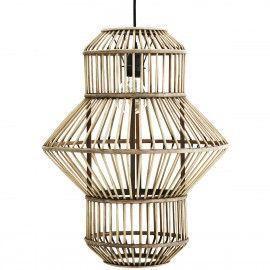 Lámpara bambú de techo.