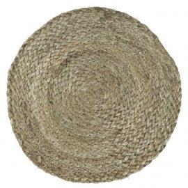 Salvamantel de yute espiral.