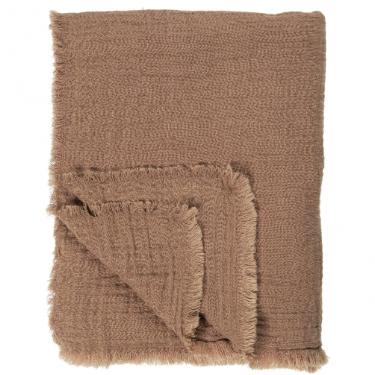 Plaid lino marrón rústico.