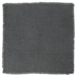 Servilleta de lino gris marengo.