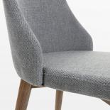ROXIE Silla madera nogal tela gris