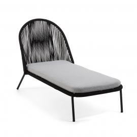 STAD Chaise longue metal negro cuerda negro