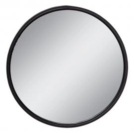 Espejo redondo hierro negro. ø60x3 cm.