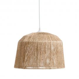 Lámpara techo natural yute.