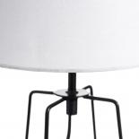 Lámpara de mesa en blanco y negro.