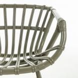 CONSTANT Silla brazos metal verde ratán verde - Imagen 5