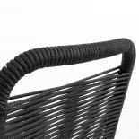 GLENVILLE Silla metal negro cuerda negra - Imagen 5