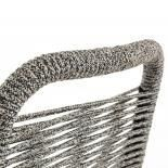 GLENVILLE Silla metal negro cuerda gris - Imagen 5