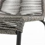 GLENVILLE Silla metal negro cuerda gris - Imagen 6