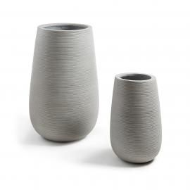 LIS Set 2 maceteros cemento gris