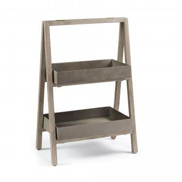 STAHL Estantería 67 acacia blanco cepillado cemento m - Imagen 1