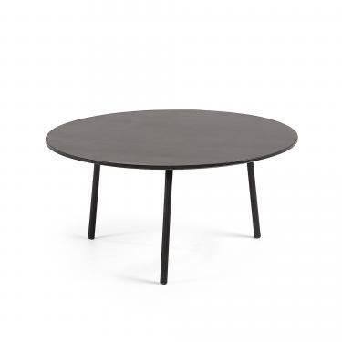 ULRICH Mesa centro Ø70 negro, poly-cemento negro - Imagen 1