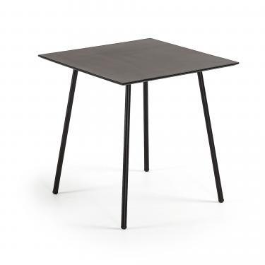 ULRICH Mesa 75x75 negro, poly-cemento negro - Imagen 1