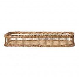 Bandeja rectangular de bambú.