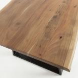 SONO Mesa 160X90 negro, acacia natural